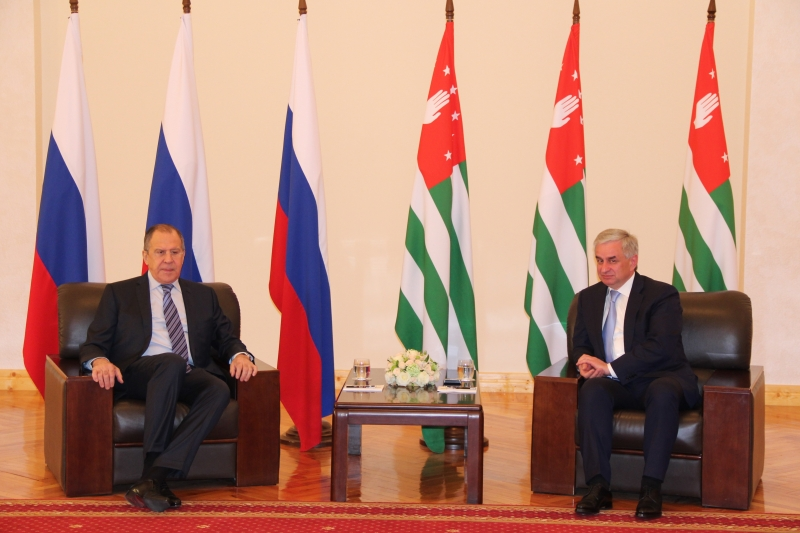 Raul Khadzhimba's Meeting with Sergey Lavrov