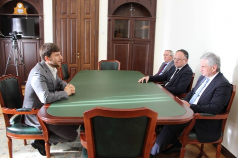 A Meeting with the Chairman of the Government of the Chechen Republic (Russian Federation) Ruslan Edelgeriyev