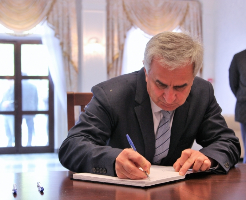The President Left a Message in the Book of Mourning in the Embassy of the Russian Federation in the Republic of Abkhazia