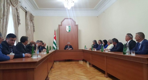 The President Had a Meeting with a Delegation of the Representatives of the Abkhazian Diaspora