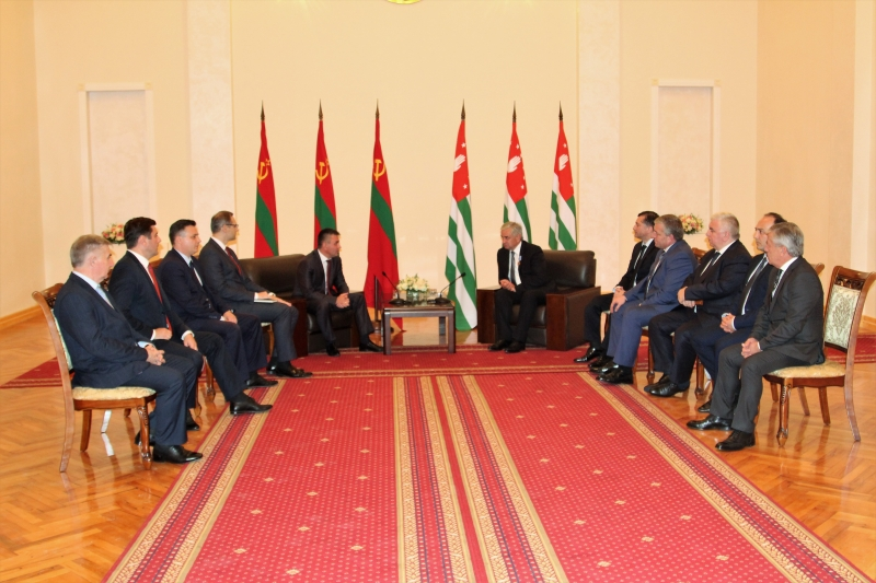 An Extended Meeting between Presidents of the Republic of Abkhazia and the Pridnestrovian Moldavian Republic