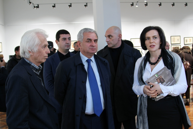 The President Attended the Grand Opening of the Exhibition of the Works of Aleksandr Chachba (Shervashidze)