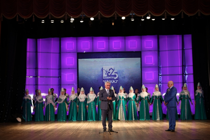 "The President Congratulated the Members of the State National Folk Dance Ensemble ""Kavkaz"" on its Anniversary"