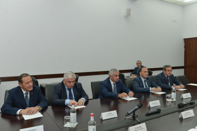 An Extended Meeting between the President and the Head of the Republic of North Ossetia Vyacheslav Bitarov