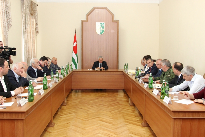 The President Held a Meeting of the Committee for the Preparation to the Celebration of the 25th Anniversary of Victory in the Patriotic War of the People of Abkhazia of 1992-1993 and the 10th Anniversary of International Recognition of the Independence