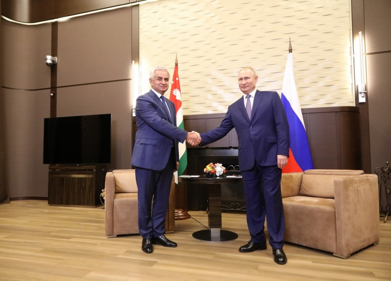 A Meeting between Raul Khadzhimba and Vladimir Putin