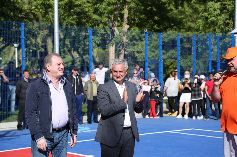 "The President Attended the Opening Ceremony of the Multipurpose Sports Playground on the Territory of the ""Litfond"" Resort"