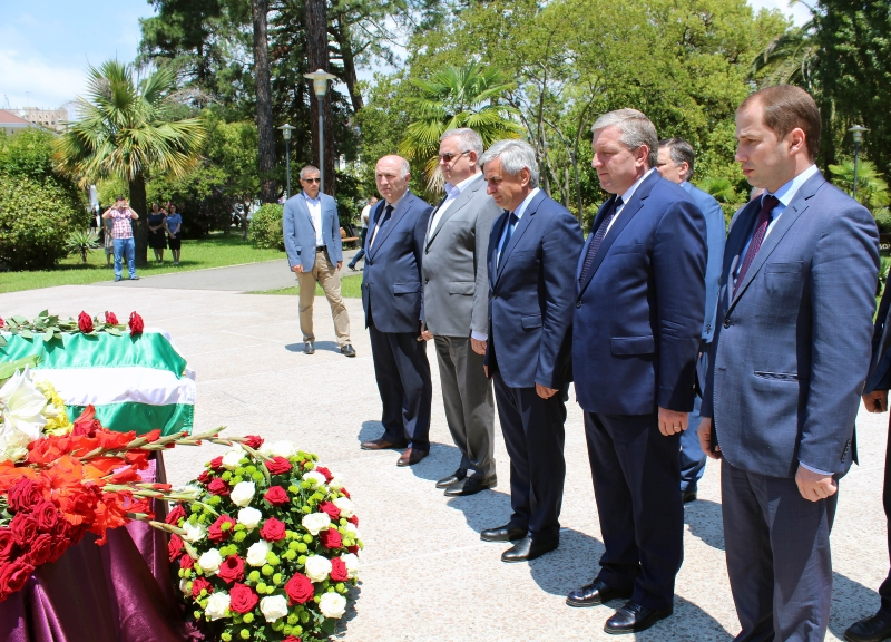 The President Attended a Ceremony of Reburial of the Remains of the Hero of Abkhazia Dmitry Chepenets in the Park of Military Glory