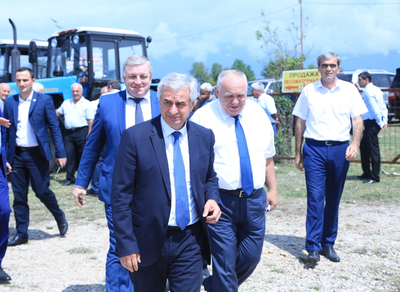 The President Participated in the Ceremony of the Receiving of Agricultural Equipment from the Russian Federation to the Republic of Abkhazia