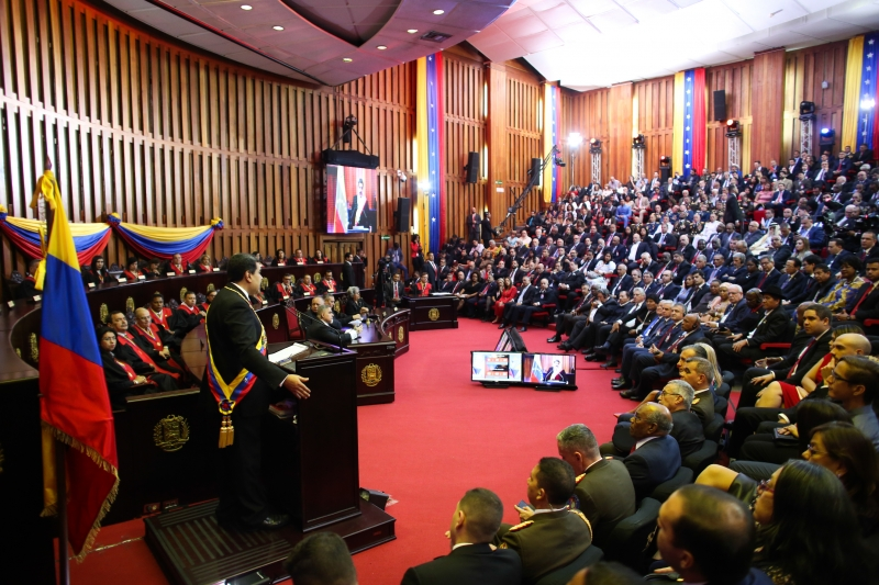 The President Participated in the Inauguration of Nicolas Maduro