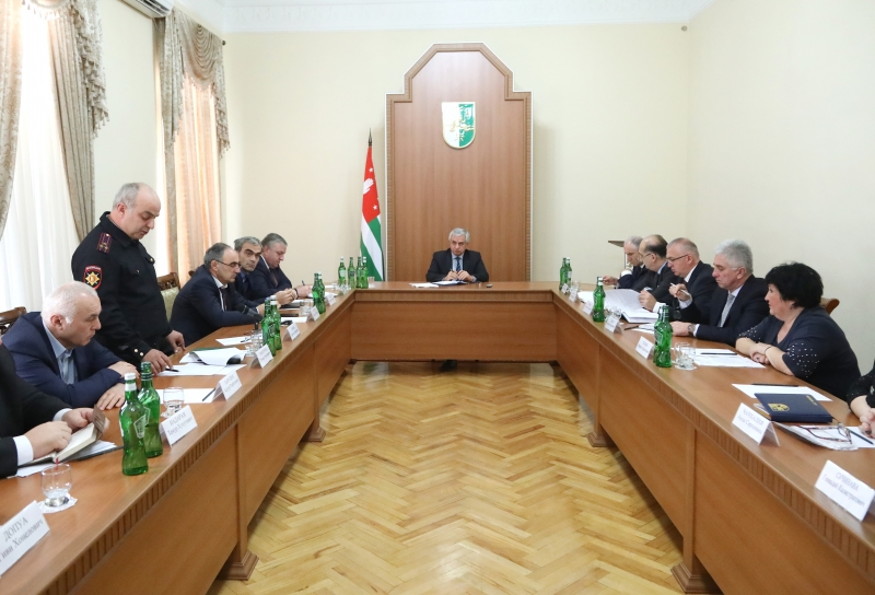 The President Held a Meeting on the Questions of the Issue of Passports of the Citizen of the Republic of Abkhazia and Residence Permits