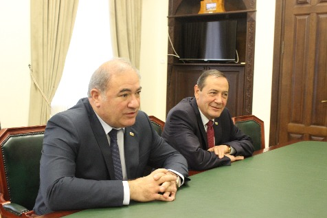 A Meeting with the Chairman of the Government of the Republic of South Ossetia Domenty Kulumbegov