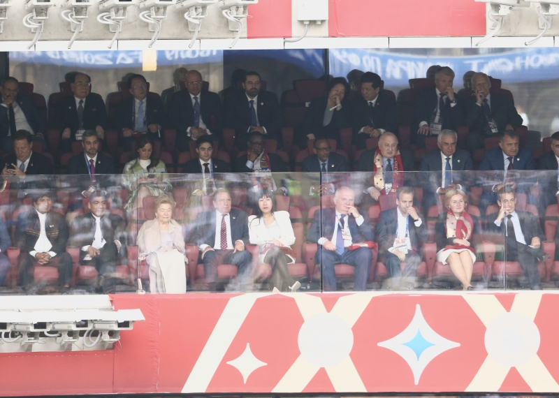 The President Attended the Opening Ceremony of the FIFA World Cup