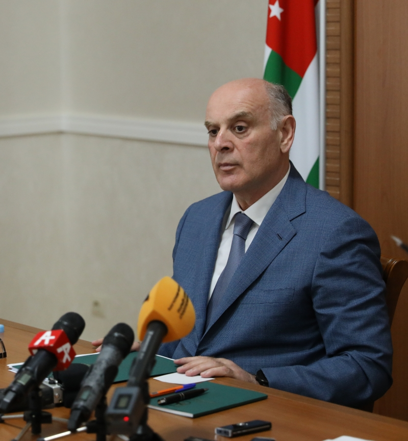 President Aslan Bzhaniya Held the First Press Conference for the Abkhazian Mass Media