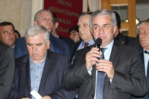 Raul Khadzhimba's Speech before the Spontaneous Rally outside the Presidential Administration