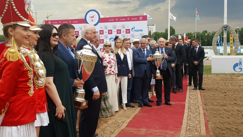 The President Attended a Horse Racing Event for the Prize of the President of the Russian Federation in Moscow