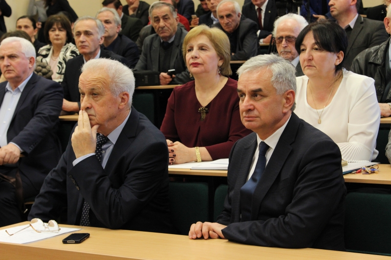 The President Congratulated Aleko Gvaramia on his Re-election as Chancellor of the Abkhazian State University