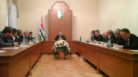 A Meeting with the Representatives of the Coordination Council of Political Parties and Civil Society Organisations of Abkhazia