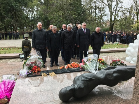 The Laying of Flowers at the Memorial to the Victims of the Lata Tragedy