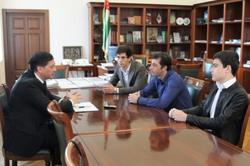 "Vitali Gabnia Had a Meeting with the Winners of the International Festival ""Salute of Talents"" Ensemble ""Adaul"""