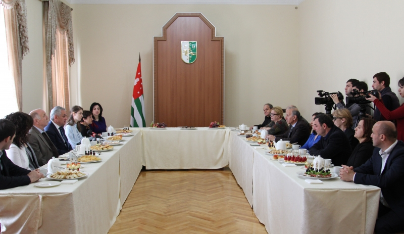 The President Had a Meeting with the Representatives of Mass Media