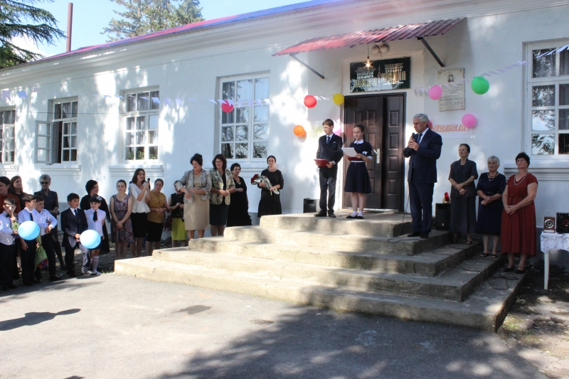 The President Participated in Opening a Repaired School in the Village of Baslakhu