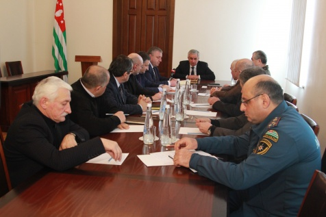 A Meeting of the Operational Headquarters for the Elimination of the Consequences of the Natural Disaster