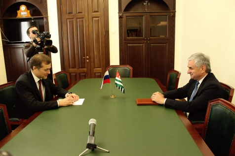 Raul Khadzhimba's Meeting with Adviser to the President of Russia Vladislav Surkov