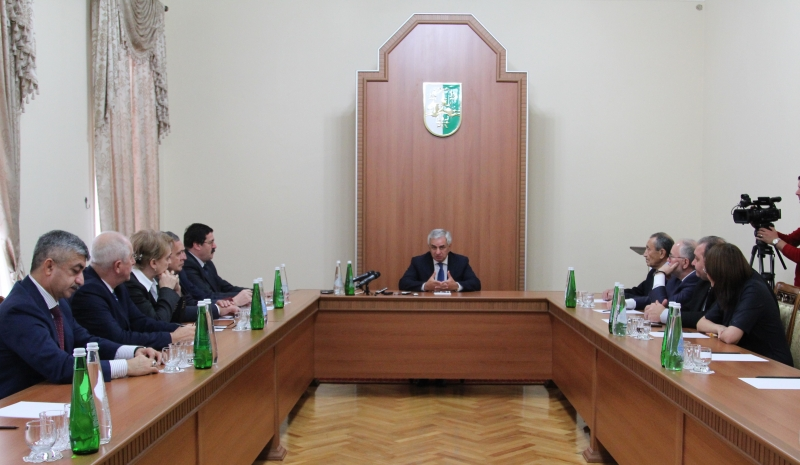 The President Had a Meeting with the Participants of the Events Dedicated to the 20th Anniversary of the Academy of Sciences of Abkhazia