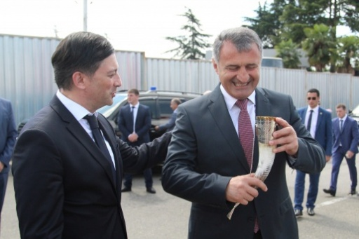Vitali Gabnia Met the President of the Republic of South Ossetia Anatoly Bibilov