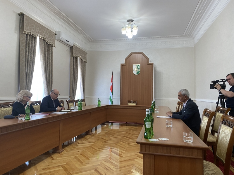 Aslan Bzhaniya Held the First Reception of the Citizens of Abkhazia