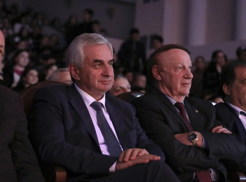 The President Attended Festive Events in the Abkhazian State University