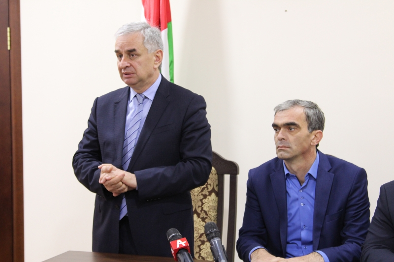 The President Presented the Head of the Administration of the Sukhum District