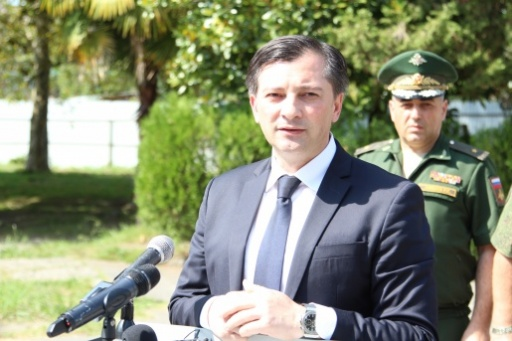 The Vice President Gave a Speech at an Official Ceremony on the Occasion of the Handing of Military Equipment in the Ministry of Defence of the Republic of Abkhazia