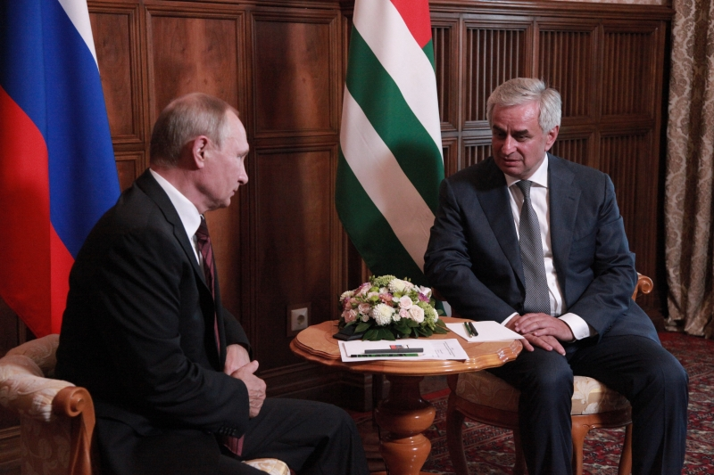 Raul Khadzhimba Had a Meeting with President of the Russian Federation
