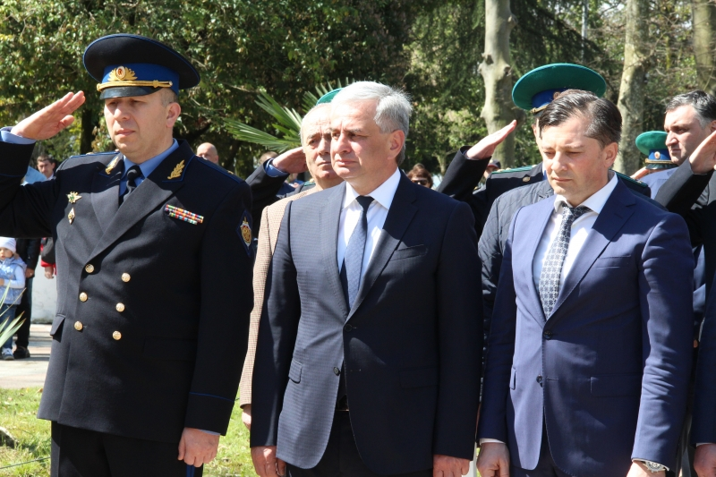The President Participated in the Rally on the Frontier Guard Alley in Sukhum