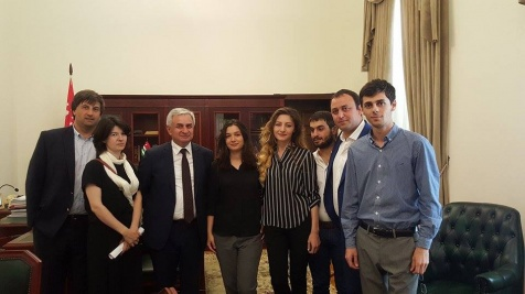 A Meeting with the Members of the National Union of Young Filmmakers of Abkhazia