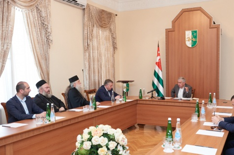 A Meeting with the Clergy of the Abkhazian Orthodox Church