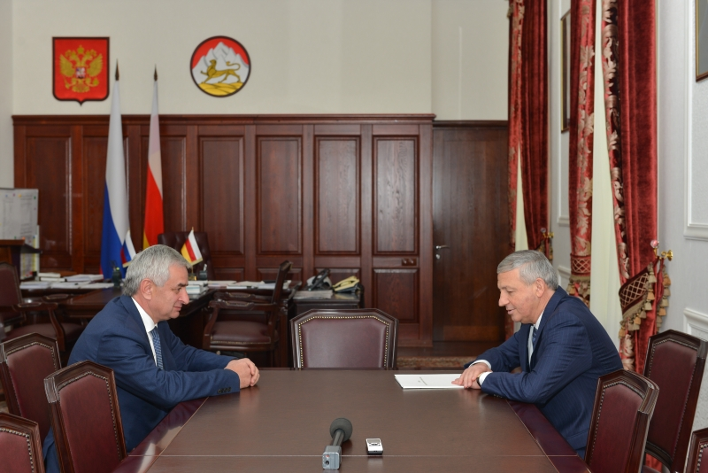 The President Had a Meeting with Head of the Republic of North Ossetia Vyacheslav Bitarov