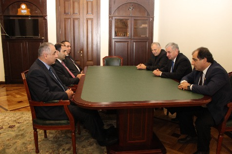 A Meeting with a Delegation from the Nagorno-Karabakh Republic