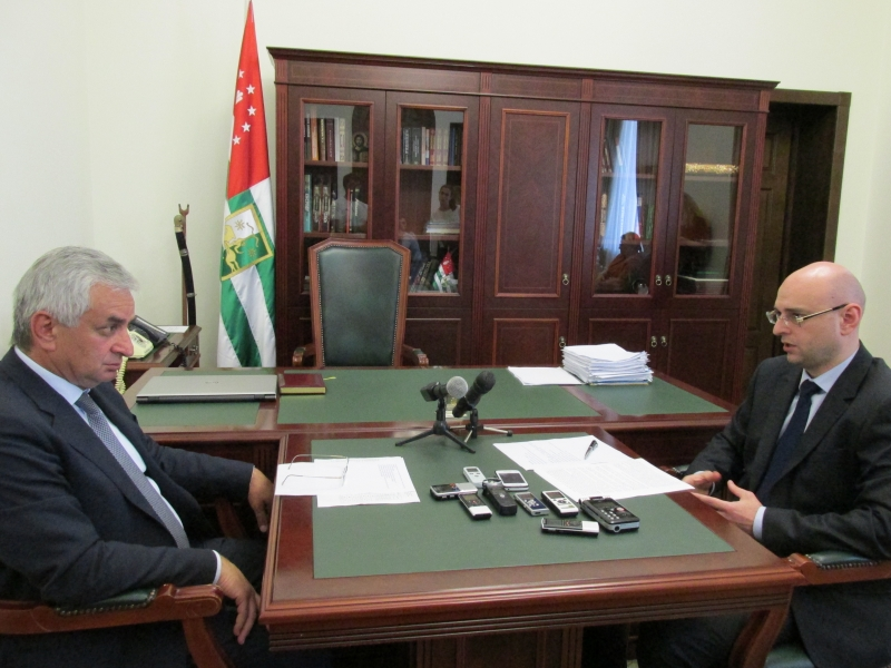 "The President Had a Meeting with General Director of the ""Chernomorenergo"" Aslan Basaria"