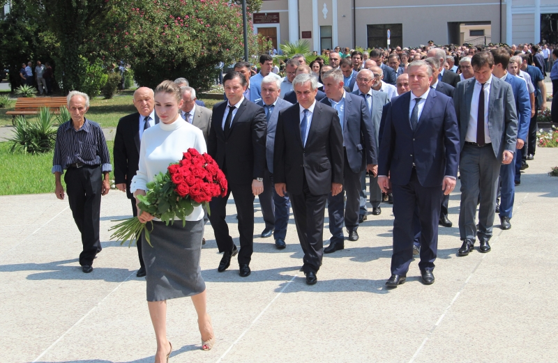 The President Laid Flowers at the Memorial to the Fallen Soldiers in the Park of Military Glory