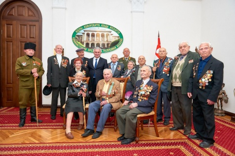 Raul Khadjimba Had a Meeting with the Veterans of the Great Patriotic War