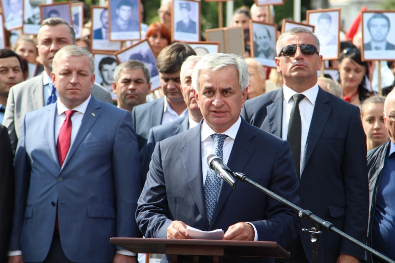 The President's Speech at the Festive Procession of the Pedestrian Columns of the Ministry of Defence of the Republic of Abkhazia