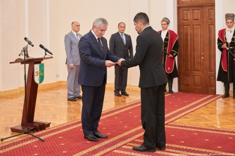 Presentation of Letters of Credence by the Ambassador of Nicaragua in Abkhazia