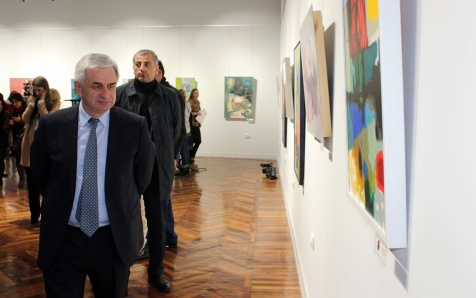 "The President Attended the Opening of an Exhibition ""Painting and Graphics"""