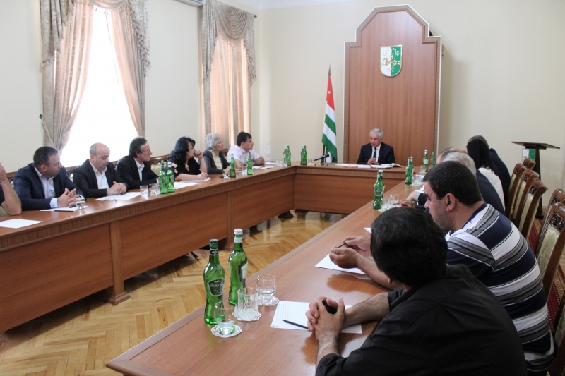 The President Held a Meeting with the Association of Disabled Persons of the Patriotic War of the People of Abkhazia