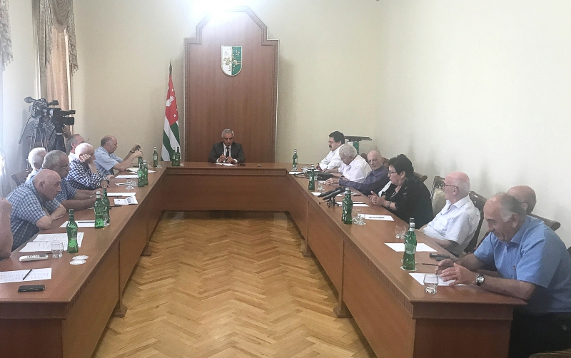 The President Had a Meeting with Abkhazian Writers