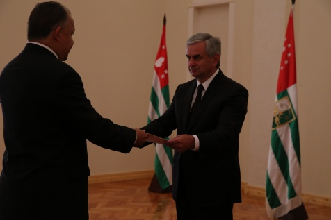 Presentation of Letters of Credence by the Ambassador of Venezuela in Abkhazia