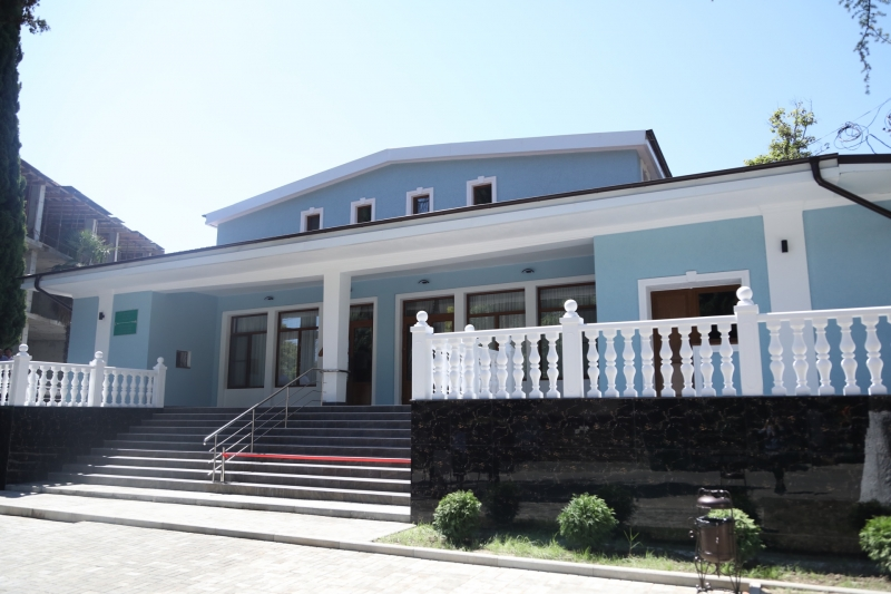 The President Attended the Opening of the Youth Palace in New Athos